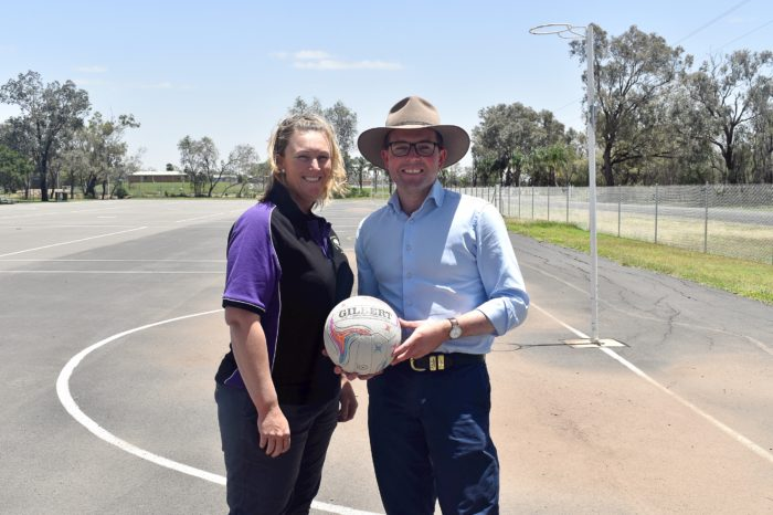MOREE NETBALL SCORES $4,000 GOAL GRANT TO GO TO STATE TITLES