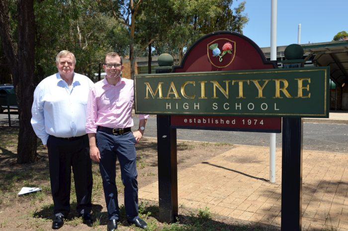 MACINTYRE HIGH SCHOOL RECEIVING A $703,380 SUMMER HOLIDAY UPGRADE