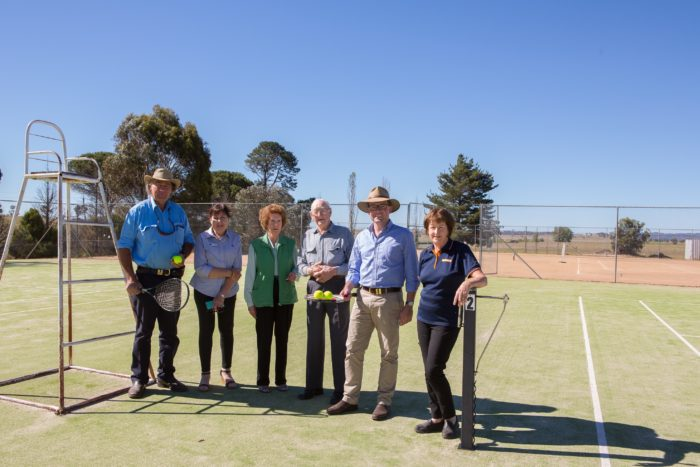 DEEPWATER'S $138,000 ACE FOR TENNIS CLUB UPGRADE PROJECT