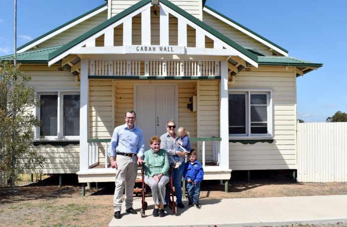 GARAH COMMUNITY HALL GETS SET FOR A $63,000 COOLER FUTURE