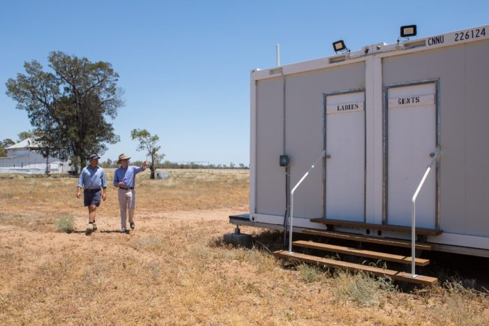 $14,000 TALMOI TOILET TASK ENDS ERA OF OLD DUNNY DROP FOR RACEGOERS