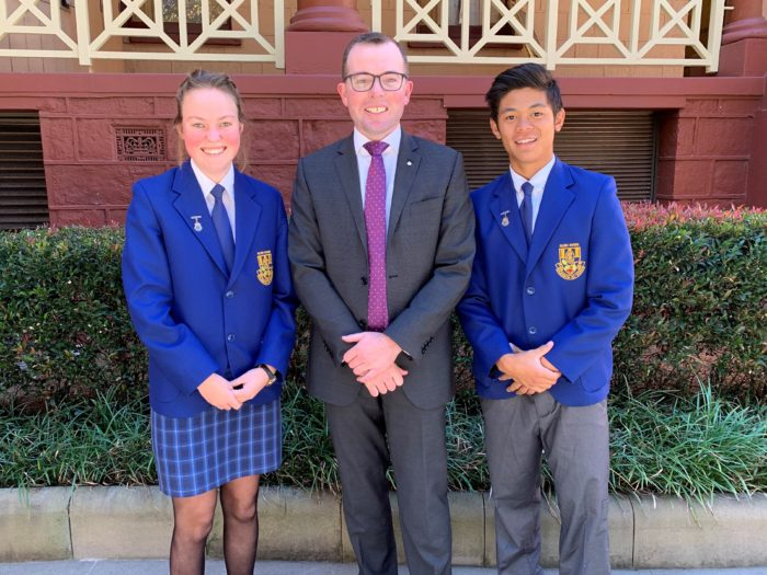 GLEN INNES LEADERS GET A TASTE FOR POLITICS AT STATE PARLIAMENT