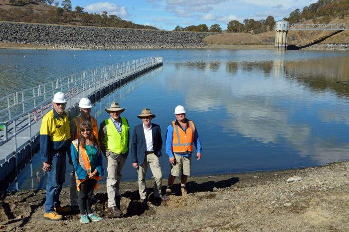 MALPAS DAM TO GUYRA WATER PIPELINE CONSTRUCTION ON TRACK