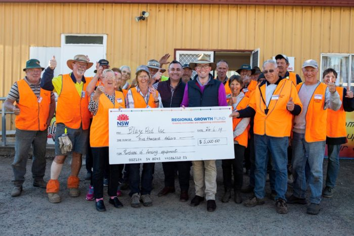 $5,000 GRANT TAKES THE STRAIN OFF BLAZEAID VOLUNTEERS AT TINGHA