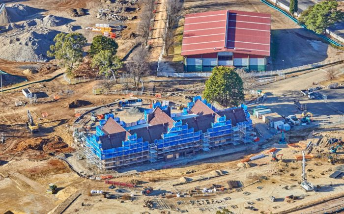 BIRDSEYE VIEW SHOWS SCALE OF NEW ARMIDALE SECONDARY COLLEGE