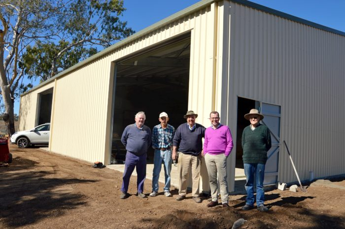 MARSHALL INSPECTS REGION'S LARGEST MENS SHED IN MOREE