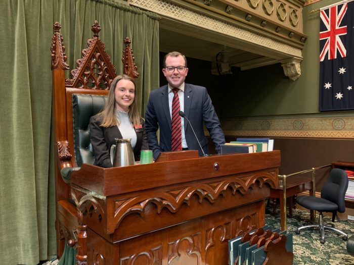 INVERELL YOUTH MP IMOGEN McDONALD ROARS IN THE NSW 'BEAR PIT'