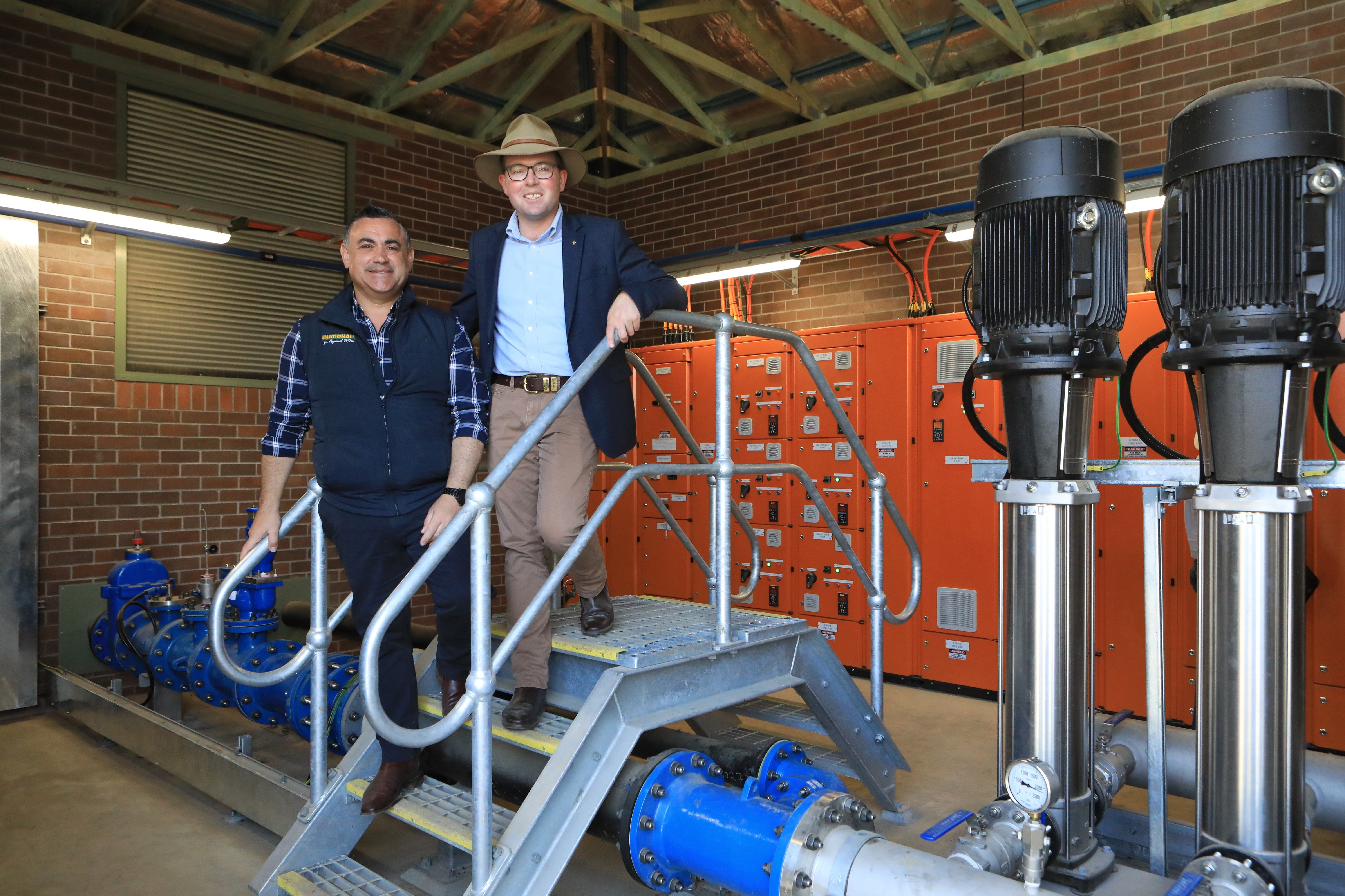 WATER FLOWING FROM $12.85 MILLION MALPAS DAM TO GUYRA PIPELINE