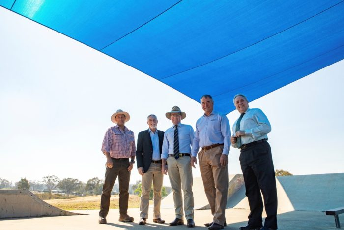 SHADE SAILS & SHELTERS DELIVERED FOR TINGHA SKATE PARK
