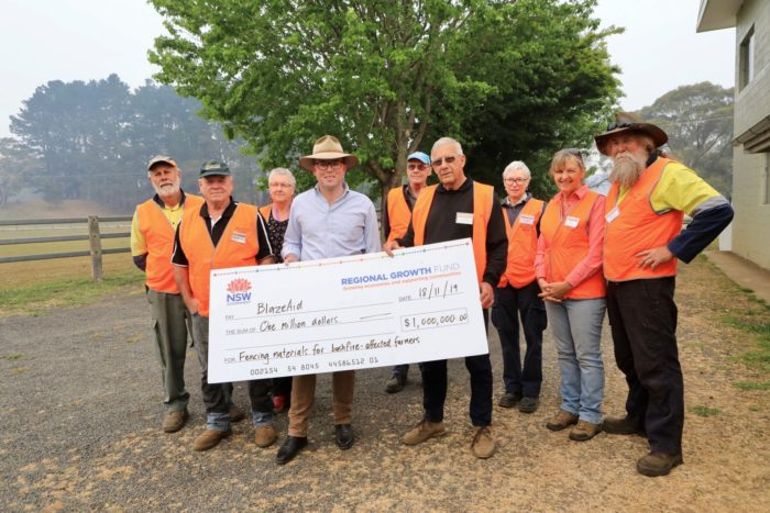 $1 MILLION BLAZEAID FUNDING 'TAKES THE STRAIN' OFF BUSHFIRE RECOVERY