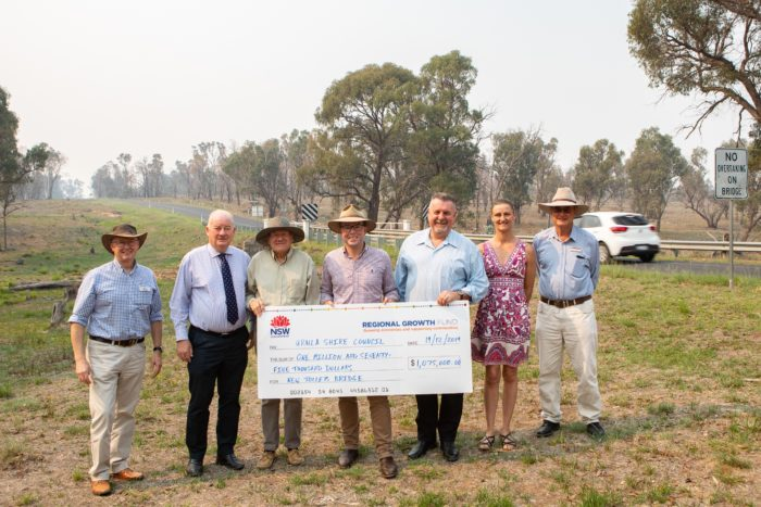 $1.1 MILLION FOR NEW WIDER BRIDGE OVER TOLLEYS GULLY