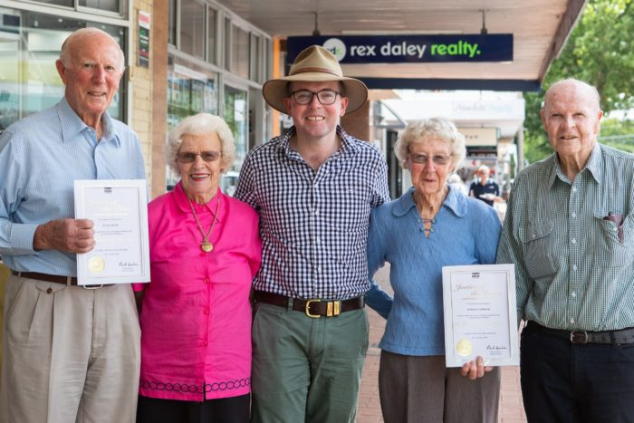 TWO INVERELL JUSTICES OF THE PEACE RECOGNISED FOR 50 YEARS SERVICE