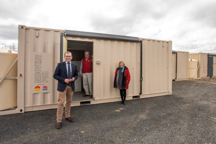 BUSHFIRE PODS PROVIDE TEMPORARY HOMES FOR WYTALIBA FAMILIES