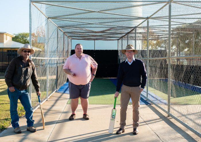 BOOST TO CRICKET AT MOREE WITH NEW NETS AT RON HARBORNE OVAL