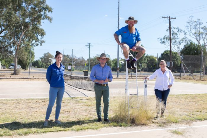 RETURNING SERVE AT MUNGINDI WITH $208,780 UPGRADE OF LOCAL COURTS