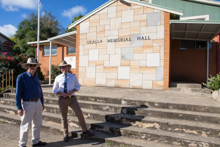 URALLA'S HISTORIC MEMORIAL HALL TO RECEIVE A $103,180 FACELIFT