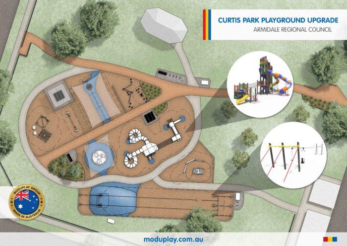 CONSTRUCTION OF ARMIDALE'S CURTIS PARK PLAYGROUND GETS UNDERWAY