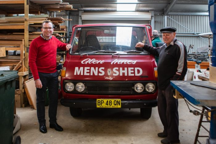 $2,500 KEEPS THE COLD OUT OF GLEN INNES MEN'S SHED