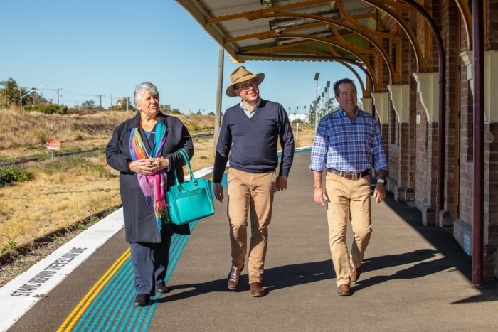 $2 MILLION UPGRADE ROLLS INTO MOREE TRAIN STATION