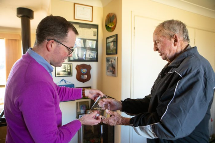 FISHING ICON RAY MEPHAM AWARDED FOR OUTSTANDING SERVICE