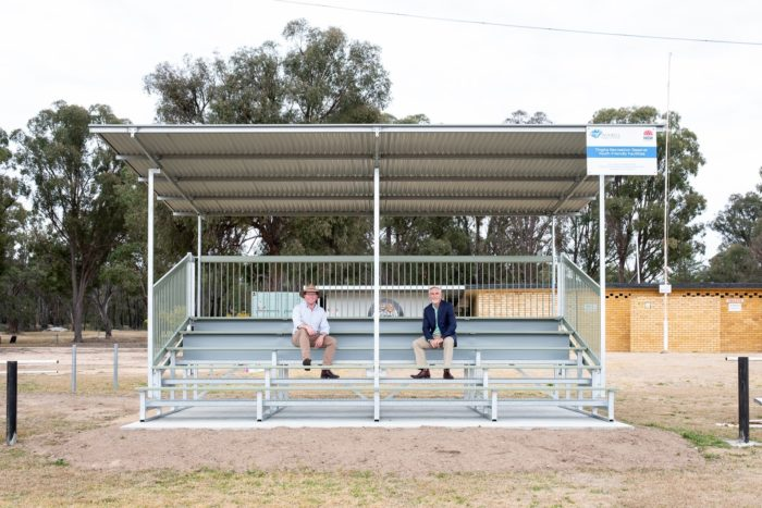 NEW GRANDSTANDS AND PUBLIC BBQ 'FIRES UP' SOCIAL LIFE IN TINGHA