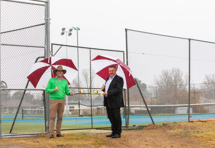 NEW U.S. OPEN STYLE TENNIS COURTS READY FOR PLAY AT URALLA