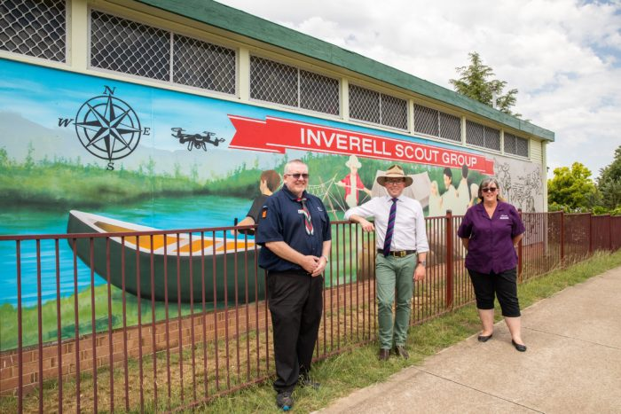 NEW MURAL TELLS THE STORY OF INVERELL SCOUTS GROUP