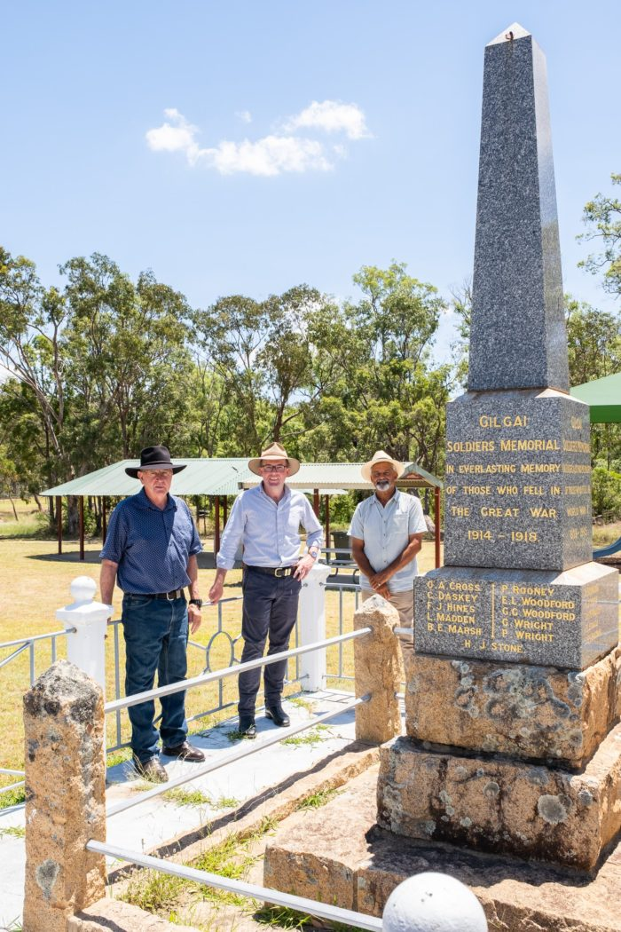 MAJOR RENOVATIONS FOR GILGAI WAR MEMORIAL WITH $10,000 FUNDING