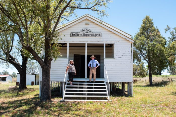 HISTORIC LONG PLAIN MEMORIAL HALL STANDING TALL ONCE AGAIN