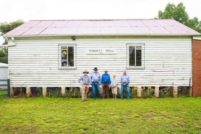 100 YEAR OLD PINKETT HALL RESTORED WITH $28,000 GRANT