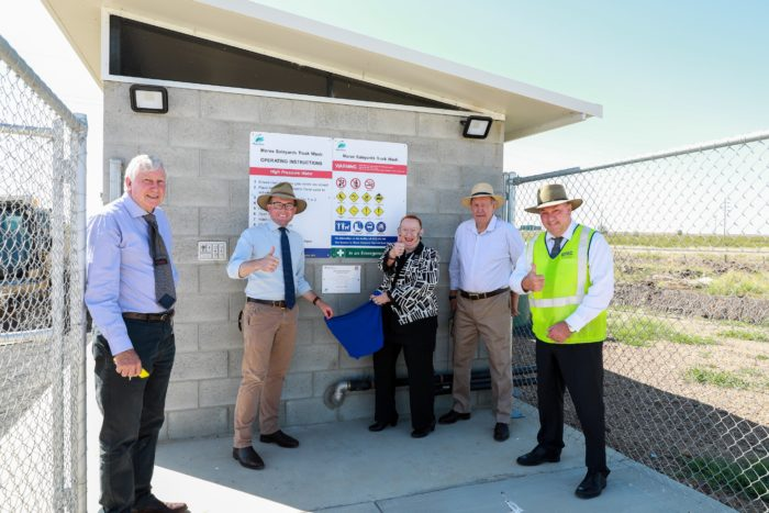 BRAND NEW TRUCK WASH AT MOREE SALEYARDS OFFICIALLY OPEN