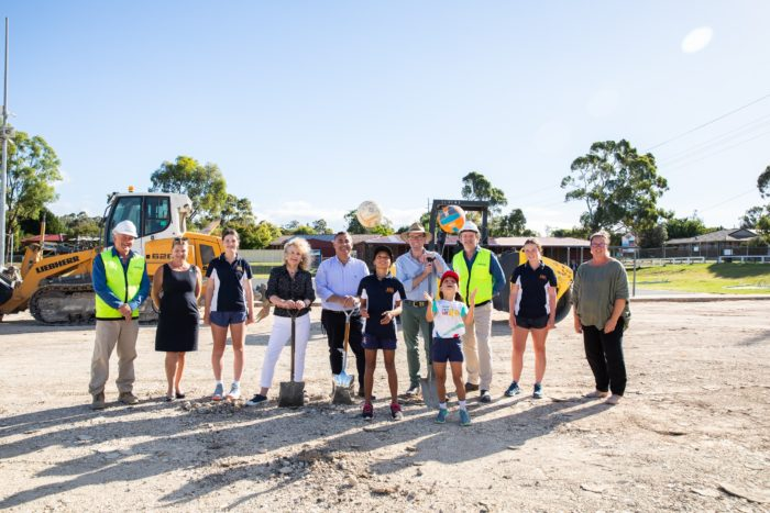 FIRST SOD OF SOIL TURNED ON $600,000 ARMIDALE NETBALL COURTS UPGRADE