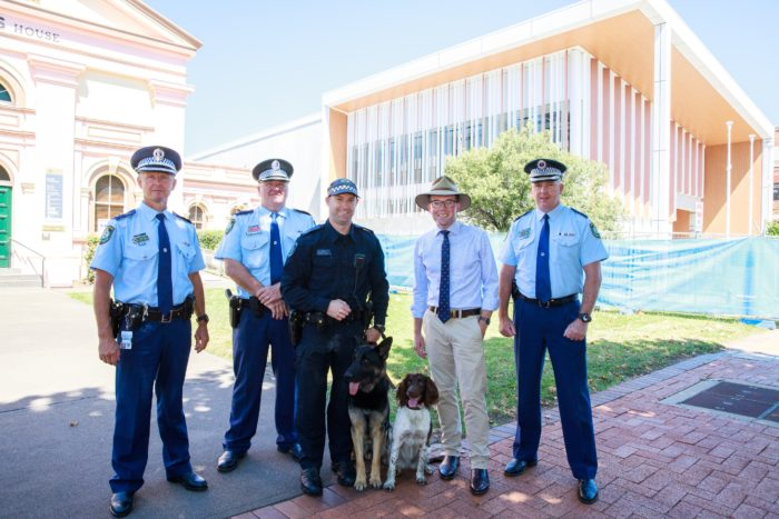NEW PAWS ON THE BEAT WITH REGION'S FIRST POLICE DOG UNIT AT WORK