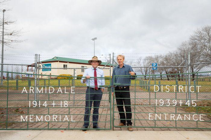 $2,552 TO RESTORE ARMIDALE SPORTSGROUND MEMORIAL GATES