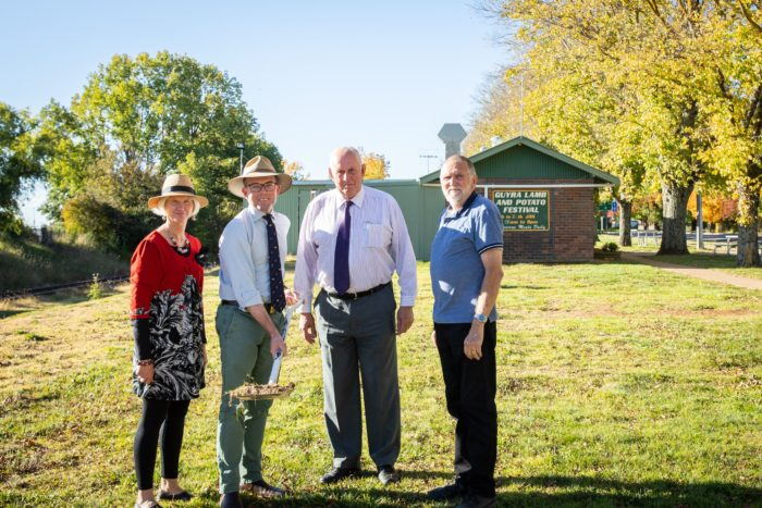 WORK BEGINS ON NEW GUYRA LAMB & POTATO FESTIVAL ALL-WEATHER SHED