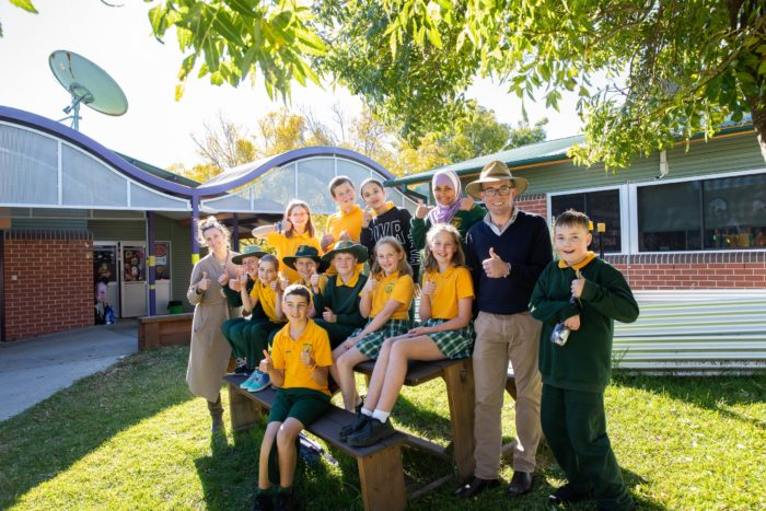 SUPPORT FOR SANDON PUBLIC SCHOOL ENVIRO CLUB TO GET TOUGH ON WASTE