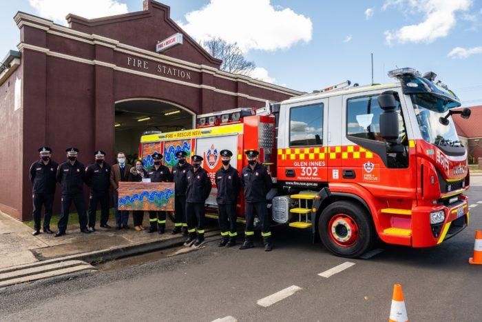 NEW $530,000 FIRE & RESCUE TANKER CELEBRATES GLEN INNES' CULTURE