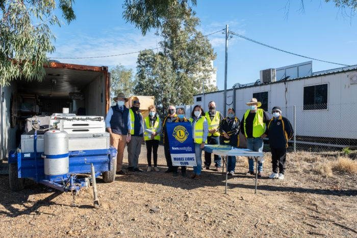 LIONS CLUB OF MOREE ROARS WITH $10,000 TO BUILD A NEW BBQ TRAILER